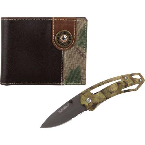 Magellan Outdoors Men's Bifold Wallet and Knife Combo