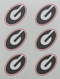 Stockdale University of Georgia Face Decals 6-Pack