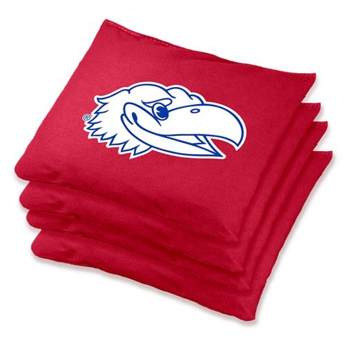 Wild Sports University of Kansas Regulation Bean Bags 4-Pack