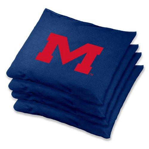 Wild Sports University of Mississippi Regulation Beanbags 4-Pack