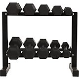 BCG 150 lbs Rubber Hex Dumbbell Set