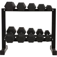 Deals on BCG 150 lbs Rubber Hex Dumbbell Set