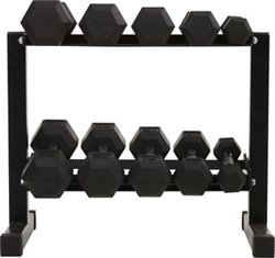 150 lbs Rubber Hex Dumbbell Set