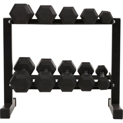 bcg 150 lbs rubber hex dumbbell set academy