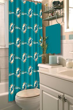 The Northwest Company Miami Dolphins Shower Curtain