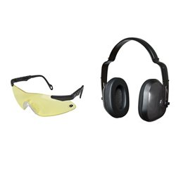 Pachuta Shooting Glasses and Earmuffs Combo Pack