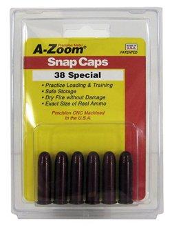 A-Zoom .38 Special Aluminum Snap Caps 6-Pack