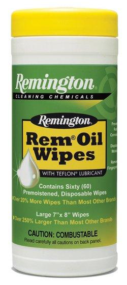 Remington Rem Oil Pop-Up Gun Wipes 60-Pack
