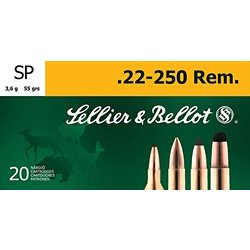 .22 - 250 Remington 55-Grain Soft Point Centerfire Rifle Ammunition
