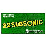 Remington Subsonic .22 Long Rifle 38-Grain Rimfire Ammunition
