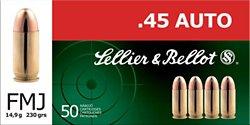Sellier & Bellot .45 ACP 230-Grain Full Metal Jacket Centerfire Handgun Ammunition