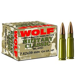 Classic 7.62 x 39mm 124-Grain FMJ Centerfire Rifle Ammunition