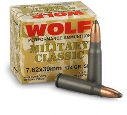 Classic 7.62 x 39mm 124-Grain Soft Point Centerfire Rifle Ammunition