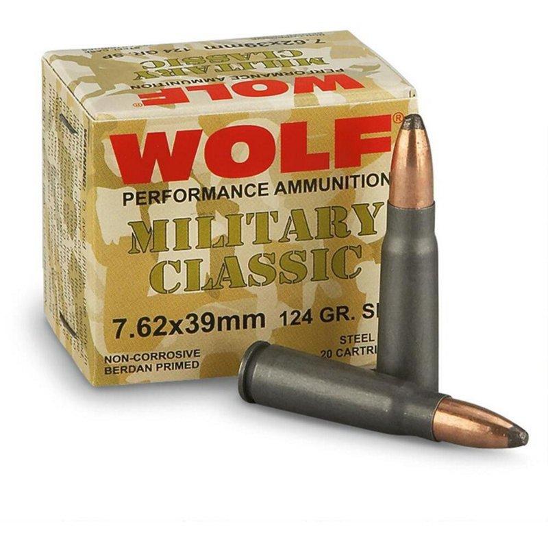 WOLF Performance Ammunition Classic 7.62 x 39mm 124-Grain Soft Point Centerfire Rifle Ammunition – Rifle Shells at Academy Sports