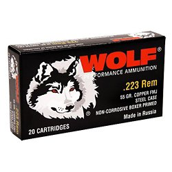 .223 Rem./5.56 NATO 55-Grain Hollow Point Centerfire Rifle Ammunition