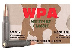 Classic .08 Win NATO 145-Grain FMJ Centerfire Rifle Ammunition
