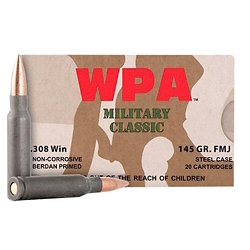 Classic .308 Win NATO 145-Grain FMJ Centerfire Rifle Ammunition