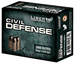Civil Defense .380 ACP 50-Grain Centerfire Handgun Ammunition