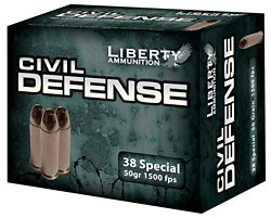 Civil Defense .38 Special 50-Grain Centerfire Handgun Ammunition