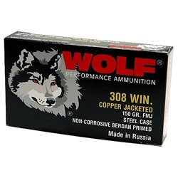 .08 Win NATO 145-Grain FMJ Centerfire Rifle Ammunition