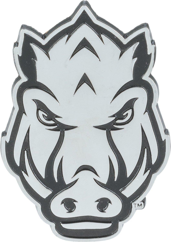Stockdale University of Arkansas Chrome Freeform Auto Emblem