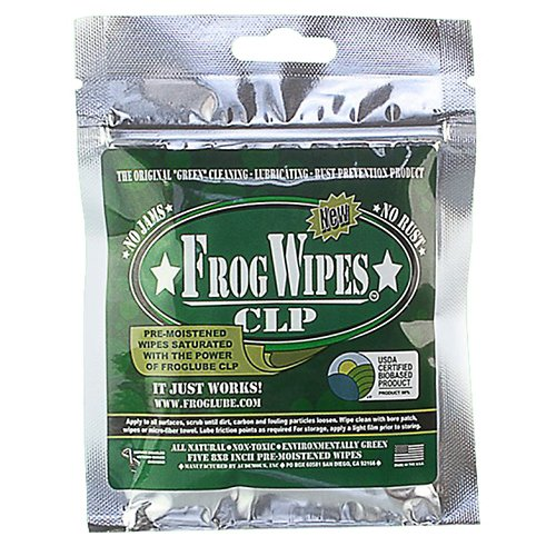 FrogLube CLP Cleaner and Lubricant Wipes 5-Pack