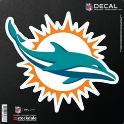 "Stockdale Miami Dolphins 6"" x 6"" Decal"