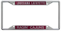 Stockdale University of Louisiana at Lafayette Mirror License Plate Frame