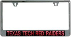 Stockdale Texas Tech University Mirror License Plate Frame