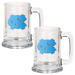 Great American Products University of North Carolina 15 oz. Glass Tankards 2-Pack