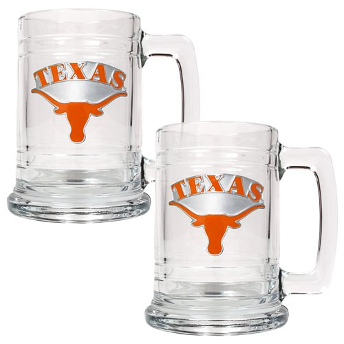 Great American Products University of Texas 15 oz. Glass Tankards 2-Pack