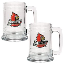 Great American Products University of Louisville 15 oz. Glass Tankards 2-Pack