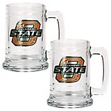 Great American Products Oklahoma State University 15 oz. Glass Tankards 2-Pack
