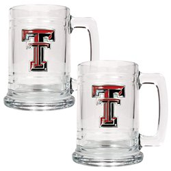 Great American Products Texas Tech University 15 oz. Glass Tankards 2-Pack