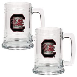 Great American Products University of South Carolina 15 oz. Glass Tankards 2-Pack