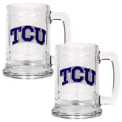 Great American Products Texas Christian University 15 oz. Glass Tankards 2-Pack