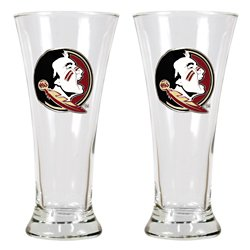 Great American Products Florida State University 19 oz. Pilsner Glasses 2-Pack