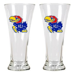 Great American Products University of Kansas 19 oz. Pilsner Glasses 2-Pack