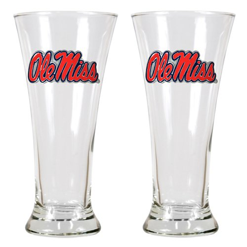 Great American Products University of Mississippi 19 oz. Pilsner Glasses 2-Pack