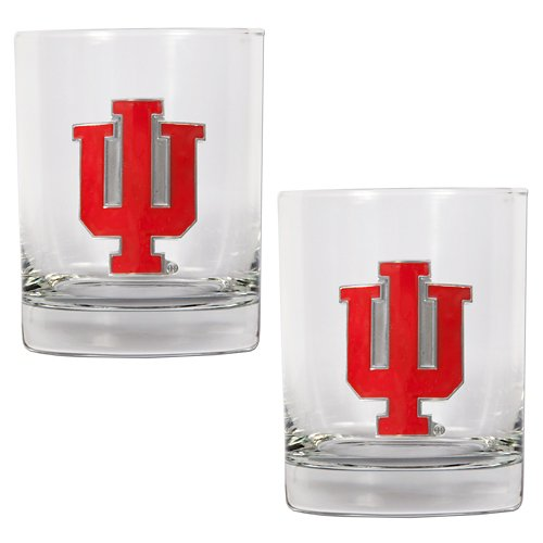 Great American Products Indiana University 14 oz. Rocks Glasses 2-Pack