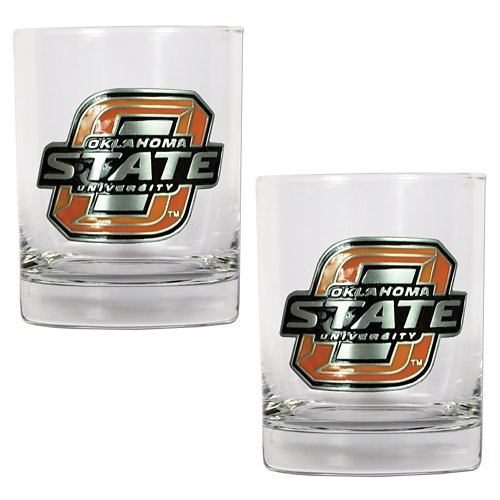 Great American Products Oklahoma State University 14 oz. Rocks Glasses 2-Pack