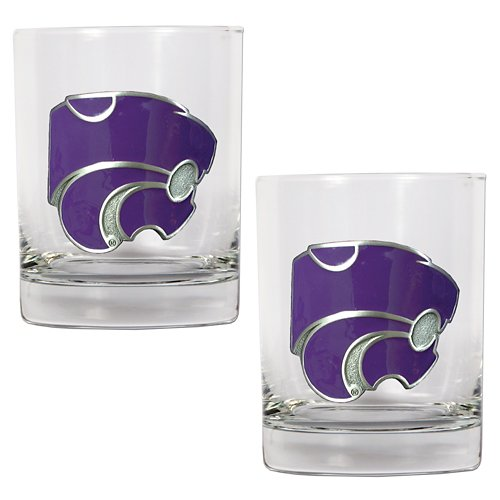 Great American Products Kansas State University 14 oz. Rocks Glasses 2-Pack