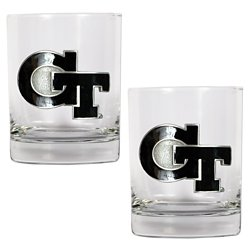 Great American Products Georgia Tech 14 oz. Rocks Glasses 2-Pack