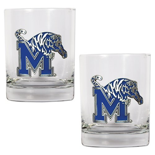 Great American Products University of Memphis 14 oz. Rocks Glasses 2-Pack