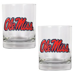 Great American Products University of Mississippi 14 oz. Rocks Glasses 2-Pack