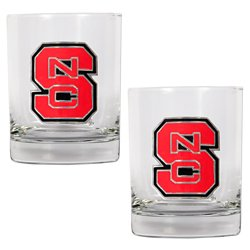 Great American Products North Carolina State University 14 oz. Rocks Glasses 2-Pack