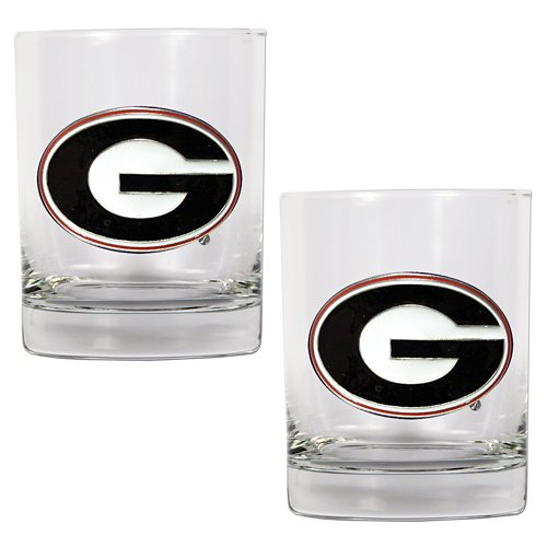 Great American Products University of Georgia 14 oz. Rocks Glasses 2-Pack