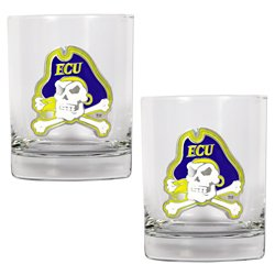 Great American Products East Carolina University 14 oz. Rocks Glasses 2-Pack