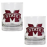 Great American Products Mississippi State University 14 oz. Rocks Glasses 2-Pack