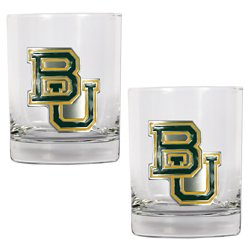 Great American Products Baylor University 14 oz. Rocks Glasses 2-Pack